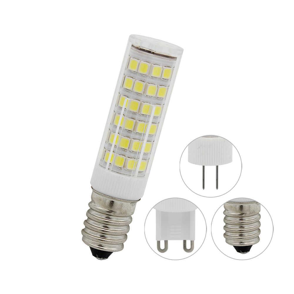 1 шт. E14 G4 G9 светодиодный SMD 2835 без мерцания AC 220 В 33 s 51 75 лампа керамический Кристалл