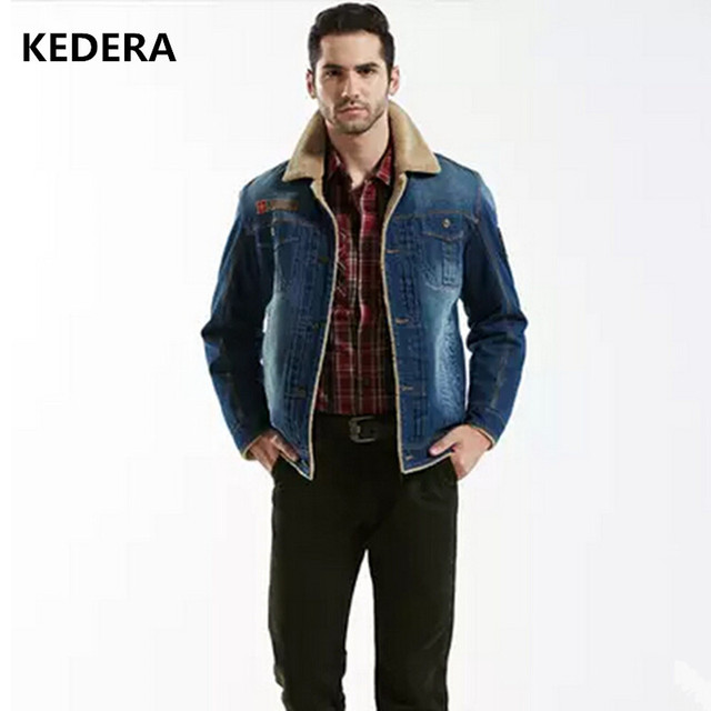 ad3d81a97ccb 2016 Winter Ripped Denim Jacket Men Clothing Jean Coat Men Casual Jacket  Outwear With Fur Collar Wool Thick Clothes Plus Size