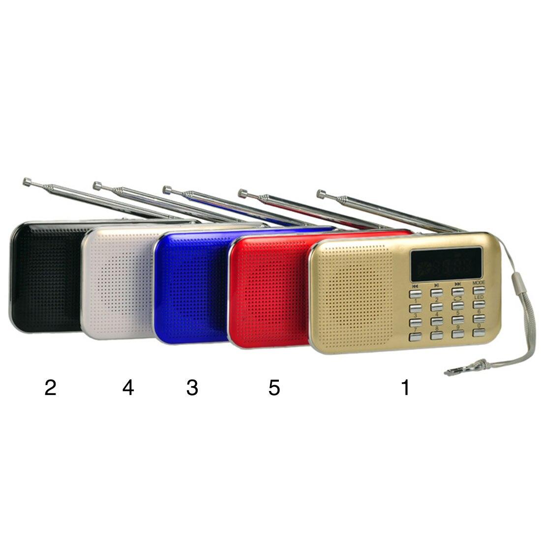 Tragbares Audio & Video Realistisch Neue Tragbare Mini Stereo Lcd Digital Fm Radio Lautsprecher Usb Tf Karte Mp3 Musik-player Mit Led-licht Und Wiederaufladbare Batterie Offensichtlicher Effekt Unterhaltungselektronik