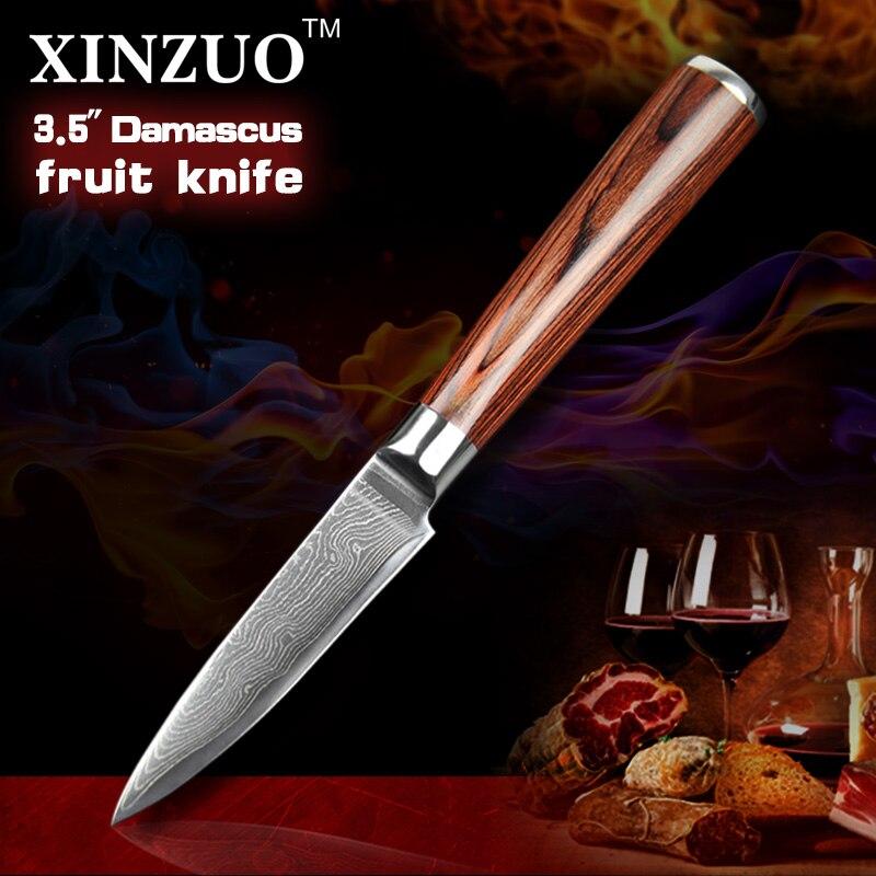 XINZUO NEW 3 5 paring font b knife b font Japan 73 layers Damascus kitchen font