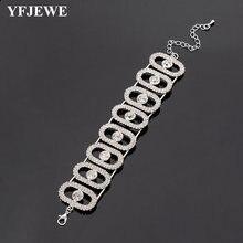 Yfjewe женский браслет в стиле хип хоп miami с кристаллами золотой