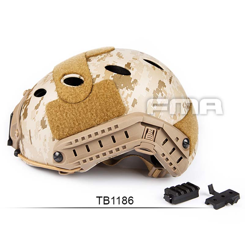 NEW Outdoor Tactical FMA Desert Digital FAST Helmet-PJ AOR1 TB1186 for Airsoft Paintball Free Shipping airsoft adults cs field game skeleton warrior skull paintball mask
