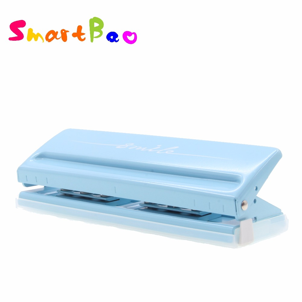 6-Hole Punch For Planners Metal Slide Punch Adjustable Puncher Easy To Use On Multiple Pages