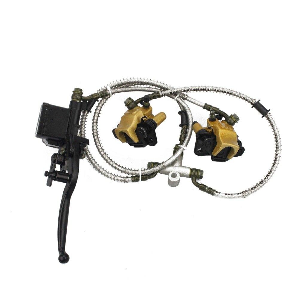 Goofit спереди диск тормозной цилиндр hydrualic суппорт в сборе для китайских 50cc 70cc 90cc 110cc 125cc квадроциклах C029-054