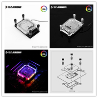 Barrow LTYK3A 04 V2 CPU waterblock cooling cpu water rgb cooler 2.0 Digital display microcutting with controller for AMD AM4