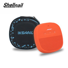 Shellnail Wireless Bluethooth Speaker Cover Case For Bose SoundLink Micro Speaker-Fits For Plug&Cables Pouch Box Storage Bag(China)