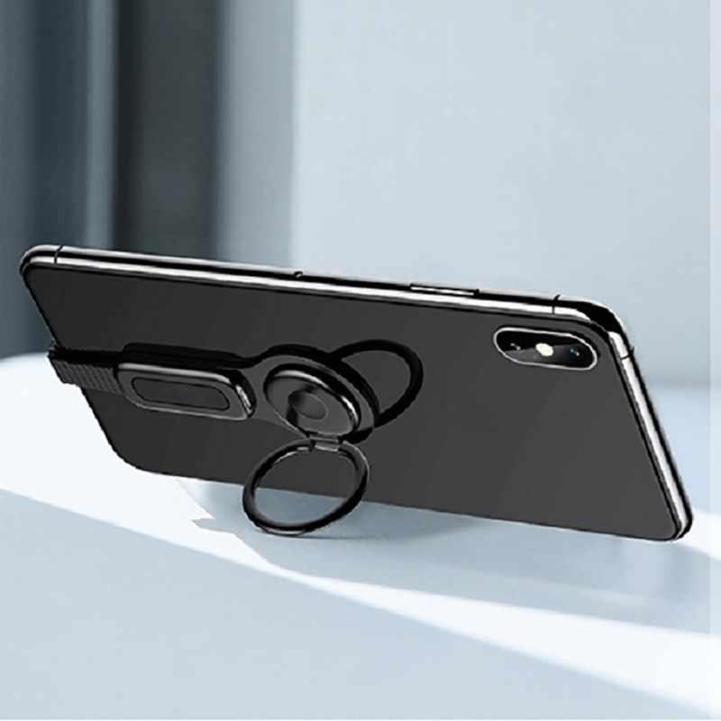 للإضاءة المزدوج محول و حلقة حامل USAMS 3.5 مللي متر الصوت و شاحن ضبط حامل هاتف شحن سريع آيفون iOS محول OTG