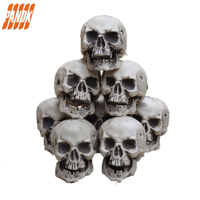 mini scary halloween skull decorations halloween holiday props realistic skull haunted house halloween ideas party yard - Scary Props