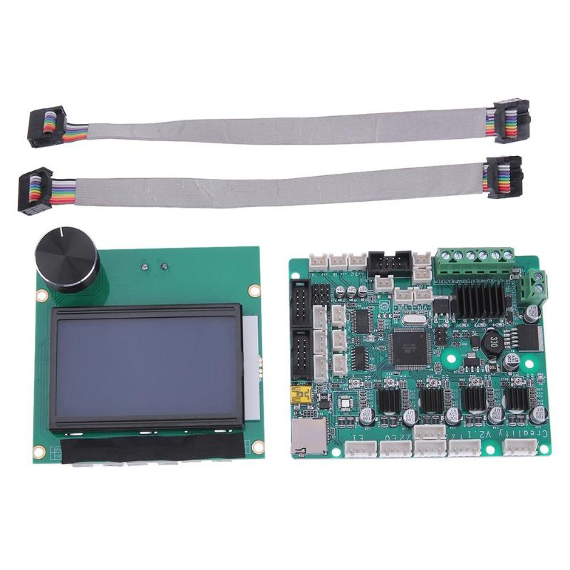 ALLOYSEED 3D Printer Parts 12864 LCD Display +Control Motherboard Mainboard for Creality CR-10S 3D Printer 1 pcs ramps1 4 lcd 12864 control panel 3d printer smart controller lcd display free shipping drop shipping l101