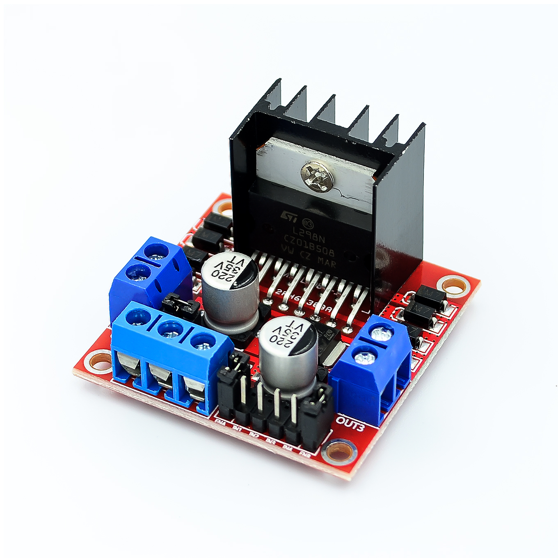 50PCS LOT L298N motor driver board module stepper motor smart car robot
