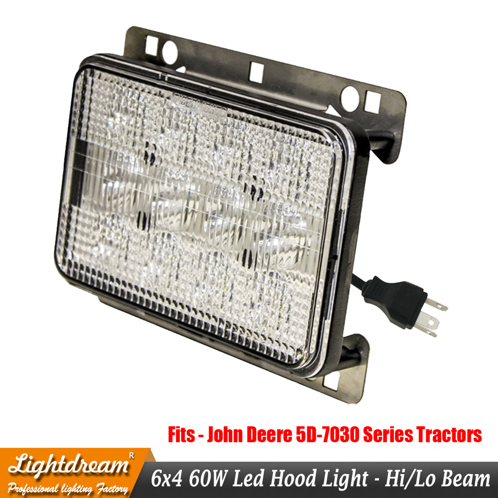 2PCS LED Headlights Hood Light For John Deere 6015 Series:6215 6415 6615 6715