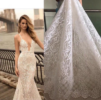 luxury SYJ-9108 african bridal lace fabric Hot selling eyelash chantilly lace french net lace for wedding dress