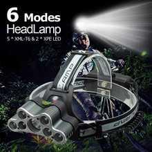 High Power 7 font b LED b font Head Torch 20000 Lumens font b LED b