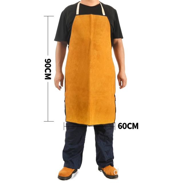 2018 Tig MAG MIG Welding Long Coat Apron Durable Leather Welder Protective Clothing Flame retardant Workplace Safety Clothing