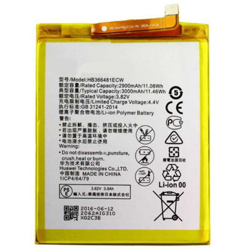מקורי Antirr HB366481ECW נטענת ליתיום טלפון סוללה עבור Huawei P9 Ascend P9 לייט G9 honor 8 5C G9 2900 mah