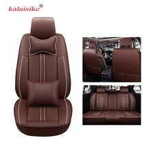 купить kalaisike universal leather car seat covers for BMW all models e39 f10 x1 x5 x6 x4 x3 e46 e70 f11 f30 auto styling accessories дешево