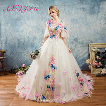 AXJFU pink lace colorful Butterfly Evening dresses birthday parties princess ruffles bow embroidered Butterfly evening dress - DISCOUNT ITEM  9% OFF All Category