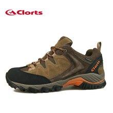 2016 Clorts Hombres Zapatos Para Caminar HKL-806 Impermeable Vaca Suede Zapatos de Trekking Al Aire Libre EVA Zapatillas Deportivas