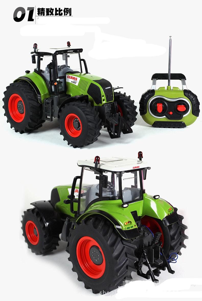 Hot Sale Voiture Telecommande Carrinho De Controle Remoto 1:16 Oversized Radio Remote Control Car Farmer Tractor Kids Toy 2