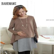 BAHEMAMI 4XL Elegant Plaid Cotton Maternity Dress Autumn Winter Fashion Patchwork Clothes for Pregnant Women Pregnancy