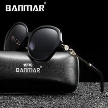 BANMAR Luxury Brand Design Rhinestone Polarized Sunglasses Women Lady Cat Eye Sun Glasses Female Eyewear Oculos De Sol