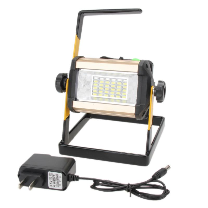 50W 2400LM Rechargeable LED Floodlight Portable Searchlight LED Spotlight Waterproof IP65 50W 2400LM 36LED 3-Mode Outdoor Lamp щетка для чистки гриля grinda barbeque 427770