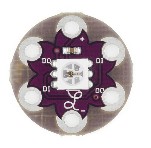 10pcs/lot LilyPad Pixel Board WS2812 Roundel For Arduino