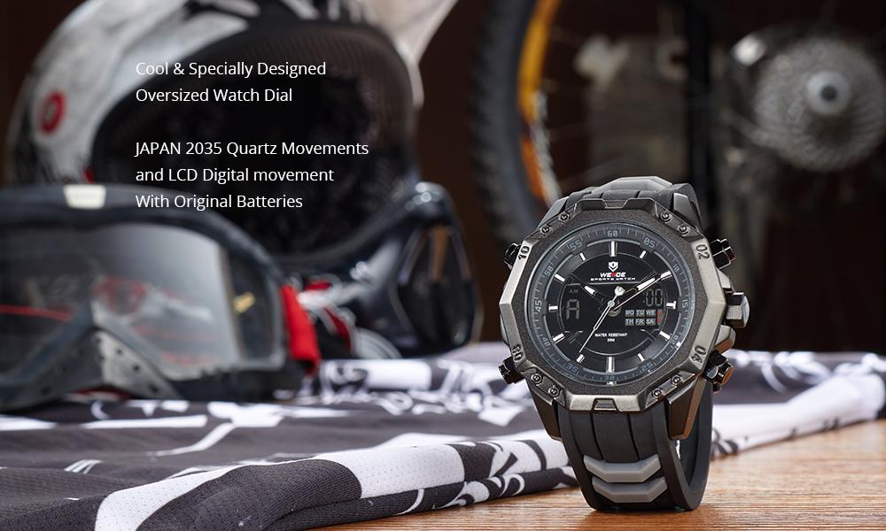 Topdudes.com - 100% Original WEIDE Military Quartz Digital Sport Relogio Masculino Wristwatch