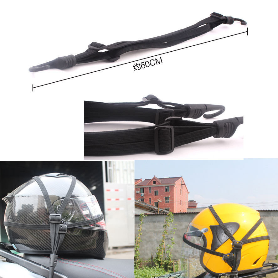 Принадлежности для шашлыков @ fuka 1 шт. черные мотоциклетные прочность выдвижной шлем Чемодан Эластичный Веревки ремень с 2 Крючки для Yamaha Suzuki