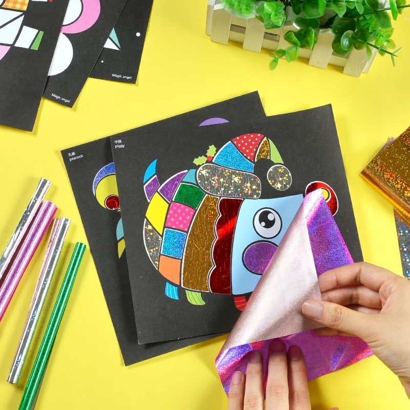 12/pcs Novel DIY Magic Transfer Sticker Transfer Painting Arts And Crafts For Kids  Toys For Children  Kids Diy