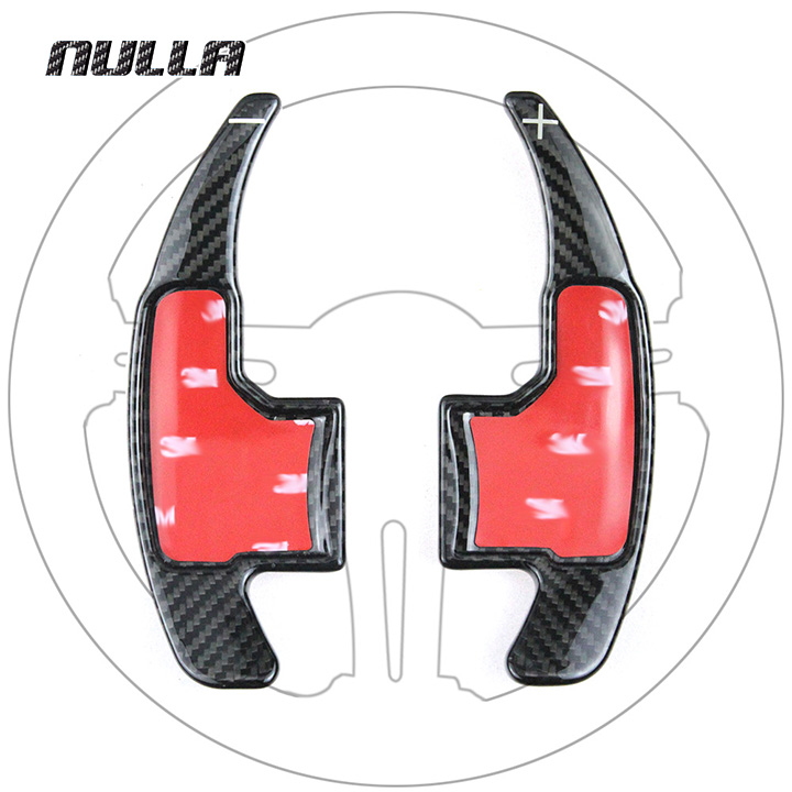 NULLA Carbon Fiber Steering Wheel Shift Paddles Shifter Paddle Gear For Ford <font><b>Mustang</b></font> <font><b>2015</b></font> 2016 2017 Car Styling <font><b>Accessories</b></font> image