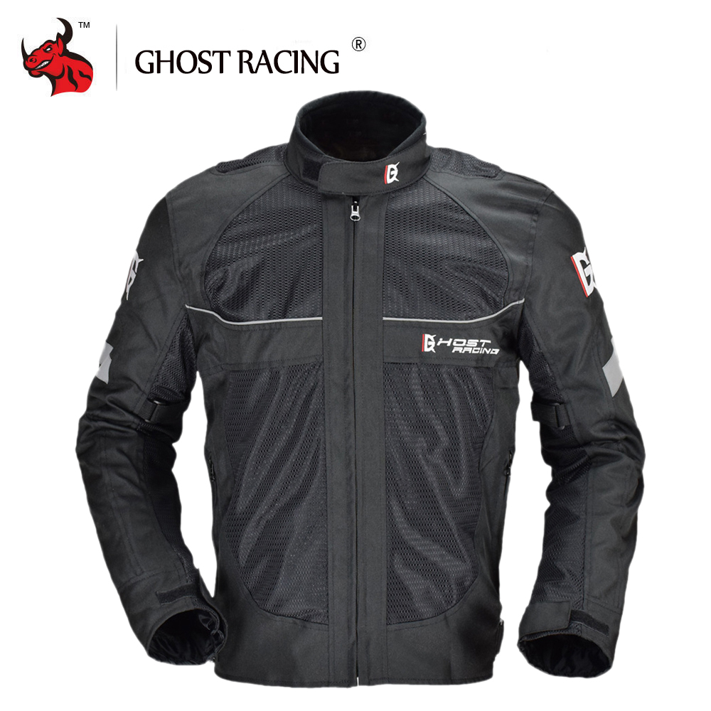 GHOST RACING Motorcycle Jackets Protective Gear Men Reflective Moto Jacket Motocross Off-Road Racing Jacket Full Body ArmorGHOST RACING Motorcycle Jackets Protective Gear Men Reflective Moto Jacket Motocross Off-Road Racing Jacket Full Body Armor