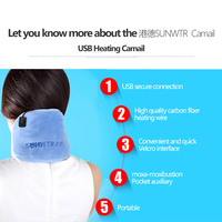 SUNWTR Neck Massager Heating Pad Electric Heating Tsao Physical Therapy Of Traditional Relieve Spinal Pain Health