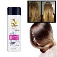 Очищающий шампунь для восстановления поврежденных волос, завивка 12%, бразильский кератин, 120 мл, очищающий шампунь, выпрямление волос, уход за волосами, гладкий, блестящий, TSLM2