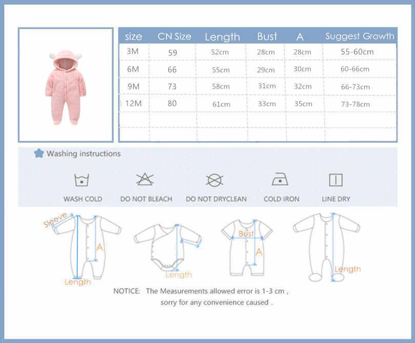 Orangemom, ropa oficial de invierno para bebés recién nacidos, ropa para niñas, ropa de lana suave, prendas de vestir, peleles para recién nacidos, Mono para niños de 12m