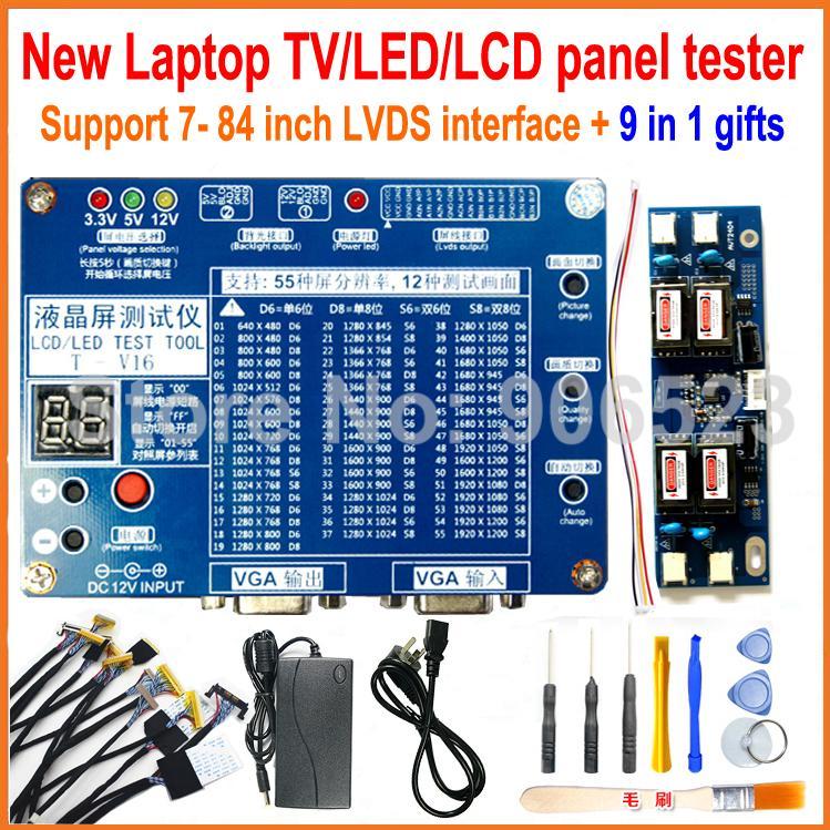 laptop tv lcd led test tool kit led panel tester support 7 84 inch lvds interface 14 screen line. Black Bedroom Furniture Sets. Home Design Ideas