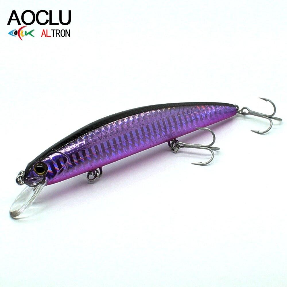 AOCLU Jerkbait Lures Wobblers Crank Minnow Fishing-Lure Magnet-Bass Vmc Hooks with Fresh