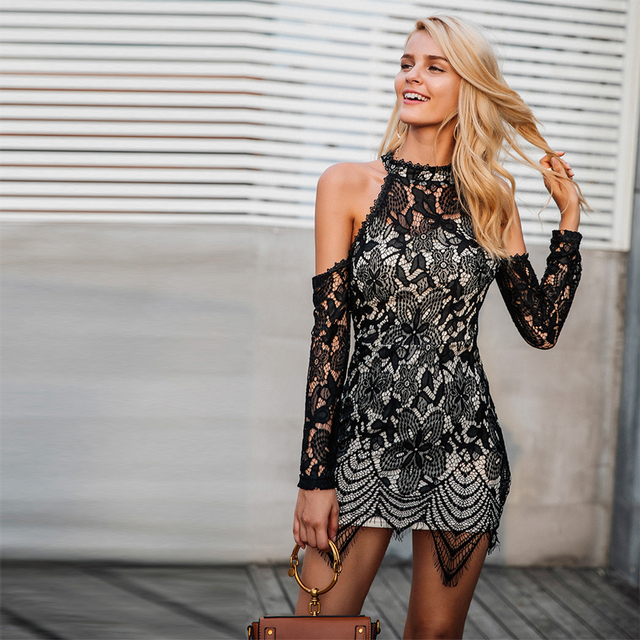 c7ae32f1e2 2018 coldly style dress lace dress Women sexy club skintight dress Simplify  and atmosphere