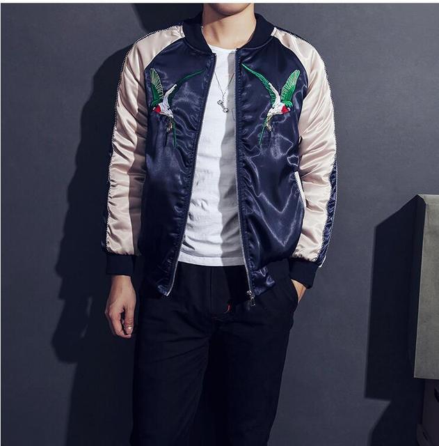 New winter jacket men brand  slim Japanese male fashion coat embroidered jackets men thickening hot sale