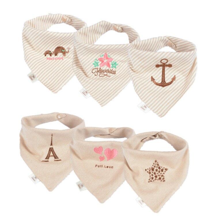 Bandana Baby Bibs For Girls Cute Pretty Princess 100% Pure Cotton Super-Stylish Anti-Smell Anti-Bacterial Apron Quick Dry Towel