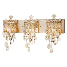 Modern crystal Shell Bathroom Wall Sconce Creative Metal Base Mirror Front Wall Light Corridor Hallway Bedroom Wall Light