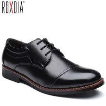ROXDIA Nam Đầm Giày công việc làm mềm bằng sáng chế da mũi nhọn cho người nam nam oxford đế RXM074 size 39 48