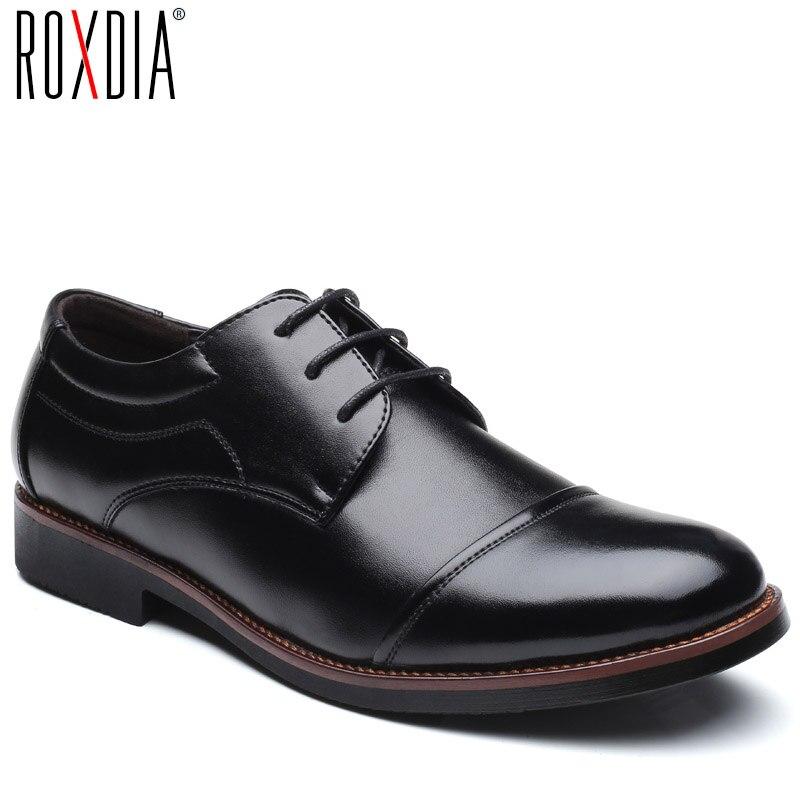 ROXDIA hommes chaussures habillées formelle d'affaires travail doux en cuir verni bout pointu pour homme mâle hommes de oxford appartements RXM074 taille 39-48