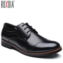 ROXDIA männer kleid schuhe formale business arbeit weiche patent leder spitz für mann männlichen männer der oxford wohnungen RXM074 größe 39 48