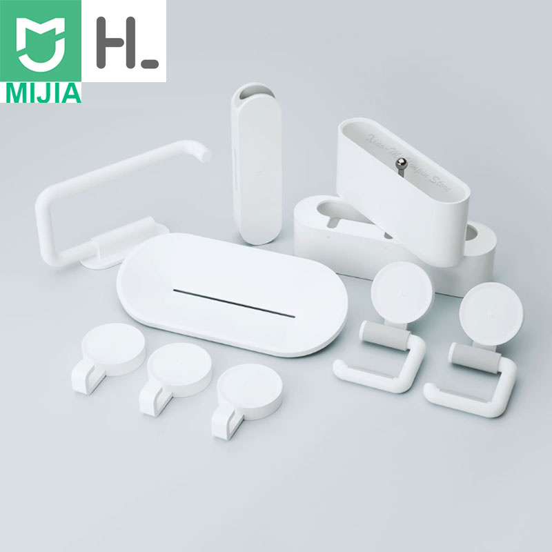 Xiaomi HL 10 IN 1 Gadgets for Bathroom Mobile Phone Holder mijia Case Soapbox Toilet Roll