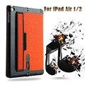 Роскошные Ультра Тонкий Раскладной Стенд Case Smart Cover для iPad Air 2 Slim Leather Case for iPad Air 1/2 Многофункциональный Планшетный Крышка