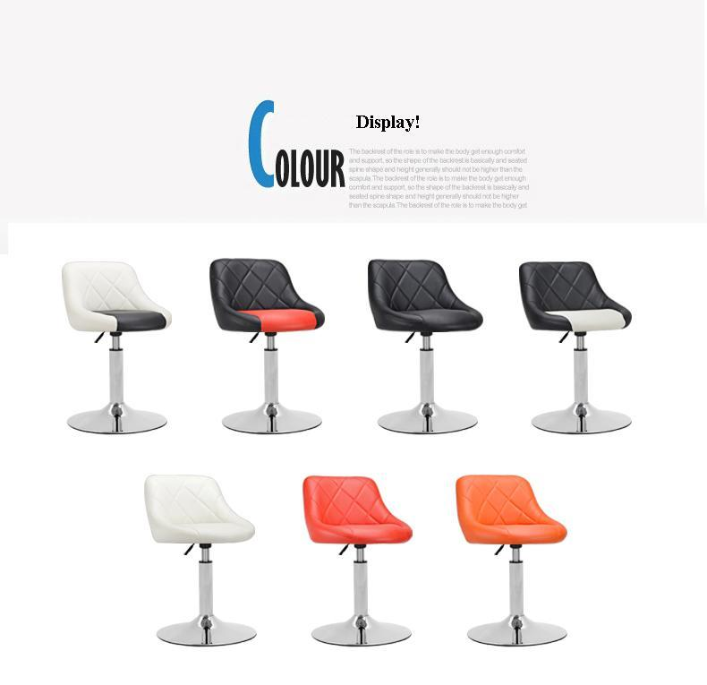 Continental bar chair hotel restaurant lifting stool white red black ect color free shipping ecdaily skywarp wrought iron bar stool chair reception continental fashion round free