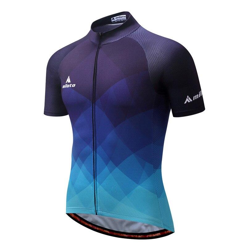 MILOTO 2019 Cycling Jersey Tops Summer Racing Cycling Clothing Ropa  Ciclismo Short Sleeve mtb Bike Jersey Shirt Maillot Ciclismo dd93c0fec