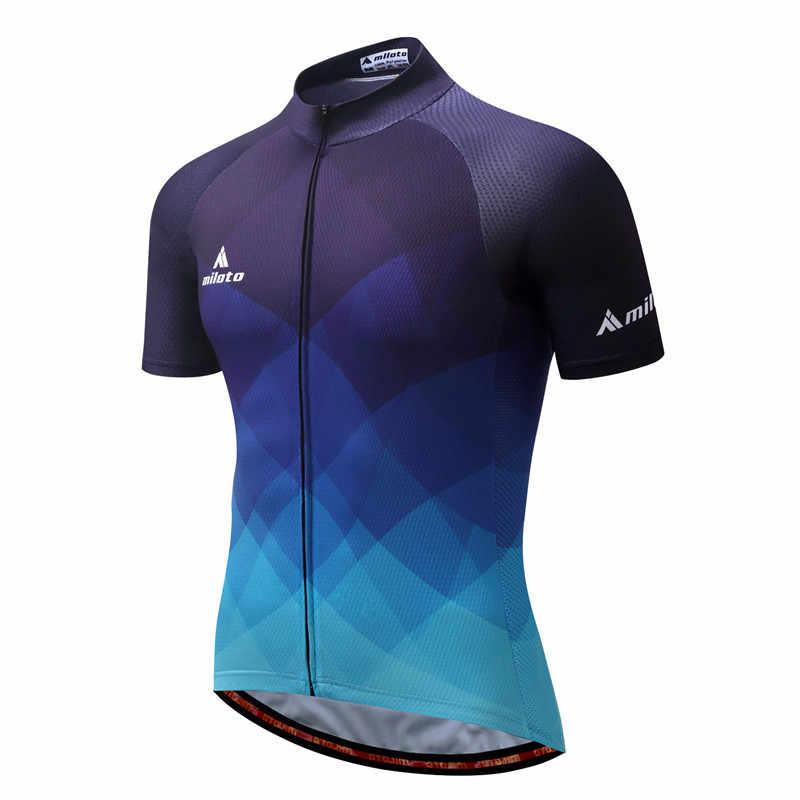 MILOTO 2020 koszulka kolarska mężczyźni topy rowerowe letnie wyścigi odzież rowerowa koszulka z krótkim rękawem mtb Bike Maillot Ciclismo