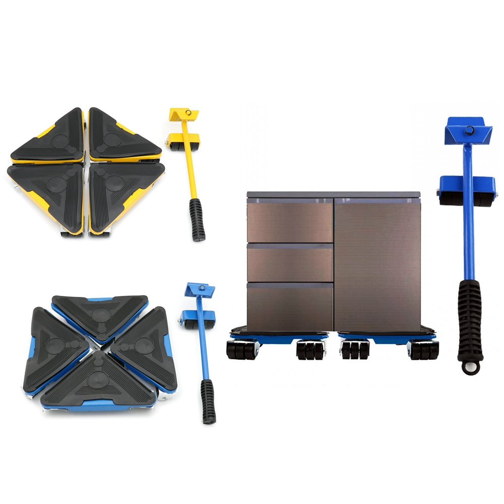 Heavy Furniture Lifter Mover Triangle Wheels Sliders Table Sofa Home Appliance Home Trolley Lift Transport Set
